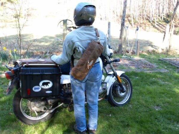 Acmemoto2 Waxed Canvas Motorcyle Luggage and Panniers